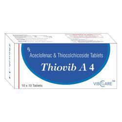 Aceclofenac 100mg and Thiocolchicoside 4mg Tablet