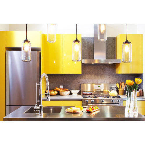 Aluminium Modular Kitchen At Rs 1100 Square Feet: Modern Modular Kitchen At Rs 1250 /square Feet