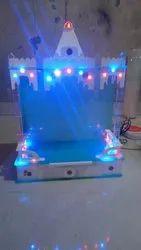 Mix Acrylic Decorative Lighting Temple, 200V-250V, Size/Dimension: 18x7x12