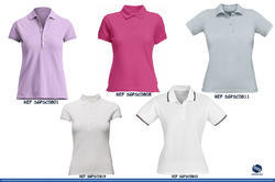Ladies Plain Polo Shirts, Color: Pink, Purple, Grey and White