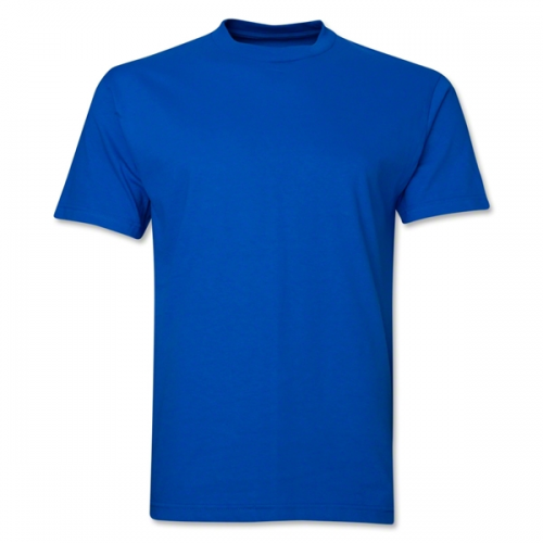 Plain Half Sleeve Men' s Round Neck Cotton T-Shirt