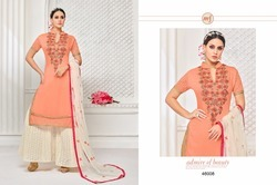 Half Sleeve Garara Salwar Suit