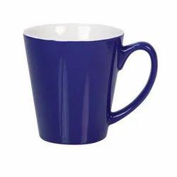 Blue Taper Ceramic Coffee Mug