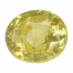 Fiery Loupe Clean Oval - Cut Natural Ceylon Yellow Sapphire