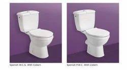 CERAMIC WATER CLOSET  S P TRAP, ITALIAN, Packaging Type: Box