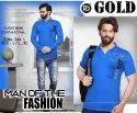 Printed Cotton Mens Collar Casual T Shirt, Size: L/l, Xl