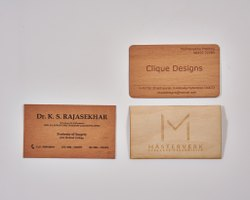 Custom Rectangle Wooden Visiting Cards, Packaging Type: Box, Size: 92mm X 53mm