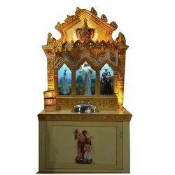 Wooden and Fiber Church Altar