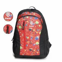 Geometry-Red School Bag