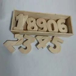 Wooden Number Cutout Blocks