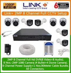 Link Plus 2MP 8 Channel Full CCTV Setup (Hard-disk Not Included)