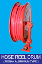 Aluminium Type Hose Reel Drum For Fire Safety, Packaging Type: Roll