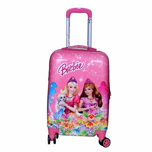 017c81f5940f Kids Barbie Travel Trolley Bag