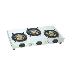 faee37201 Stainless Steel 3 Burner Gas Stove ARROW SU-3B-302 at Rs 2041  piece ...