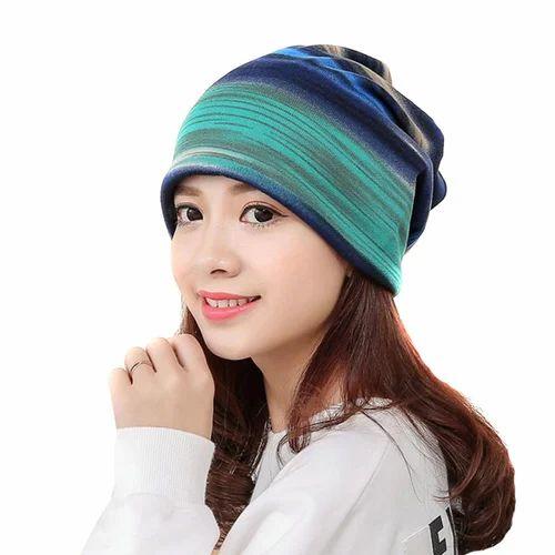 4fb2acb33 Novasox Blue & Pink Women Bandana Scarf Cap, Size: One Size ( Adjustable )