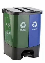 Plastic Twin Dustbins Wet and Dry Type