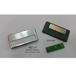 Magnet Multi Name Badges Silver