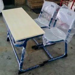 double desk classroom set