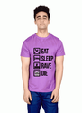 Bakchod Billi Eat Sleep Rave Die Boys Purple T Shirts