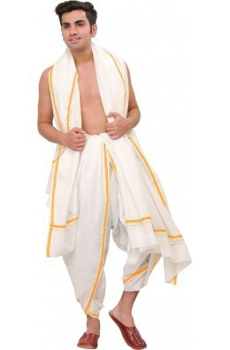 1fae660ec8 Cotton Wedding Men's Dhoti & Angavastra, Rs 750 /piece, Seequence ...