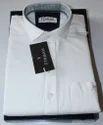 Men's Pure Cotton Plain White Shirt