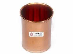 Plain Round Triones Pure Copper Glass - 001, For Home, Capacity: 250-300 Ml