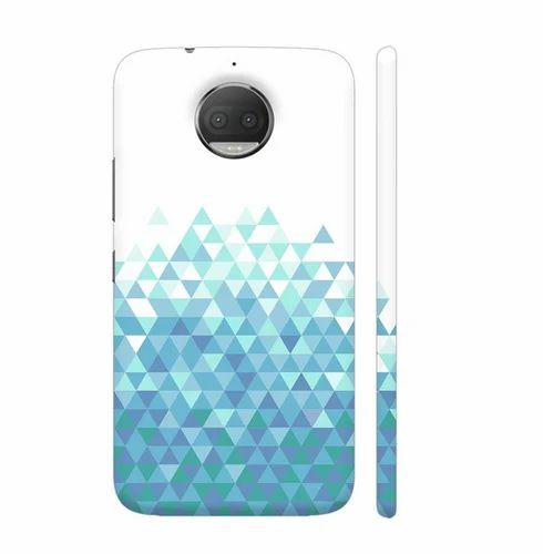 the best attitude abeaa 09b09 Trippy Triangles Light Blue Motorola Moto G5s Plus Cover