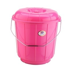 Plastic Bucket With Steel Handle 3 Ltr
