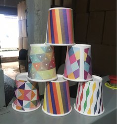 Printed Paper Cup 210 Ml, Capacity: 200 Ml