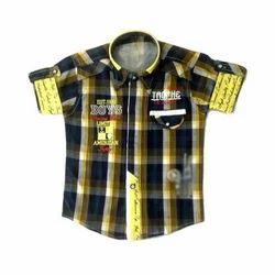 Multicolor Cotton Kids Check Shirt