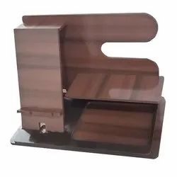 Brown Wooden Multi Utility Stand, For Office