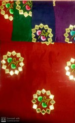 Cotton Upada Embroidery Gota Fabric