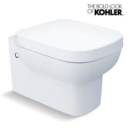 White Ceramic Kohler Replay Wall Hung Bowl With Quiet Close Seat