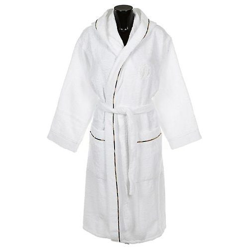 c7c10fc768 White Fancy Cotton Bathrobe