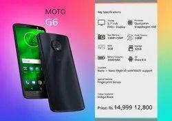 Black MOTO G6, Memory Size: 32GB, Screen Size: 5.7