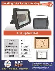 100 W Aluminium ADC-12 LED Flood Light Housing