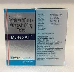 Sofosbuvir400mg Velpatasvir100mg Tablets