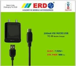 ERD Mobile Charger TC - 30 V8/ Micro USB With Cable
