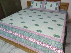 Cotton Bed Sheet And Pillow Cover