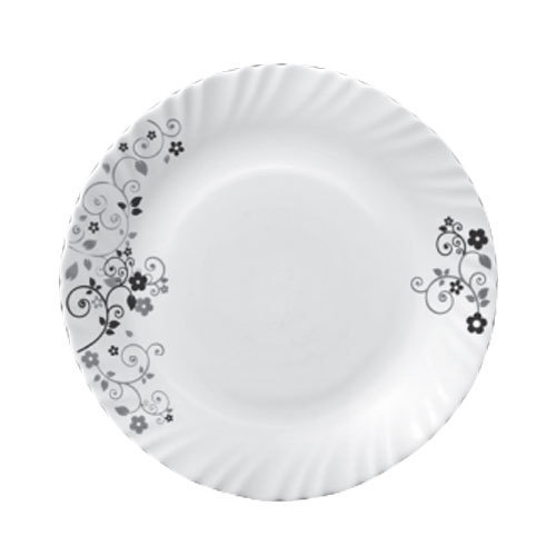 White Ceramic Mystrio Black Dinner Set