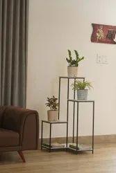 Golden Structure PVC Cavender Painted Pot, For Decoration, Size: 7 Inch