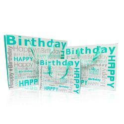 Fancy Gift Printed HAPPY BIRTHDAY GREEN  Carry Bag COMBO Pack of 3 Different Sizes Bag