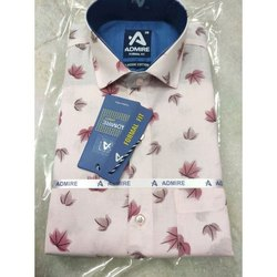 Printed Casual Wear Mens Designer Shirt, Size: 38