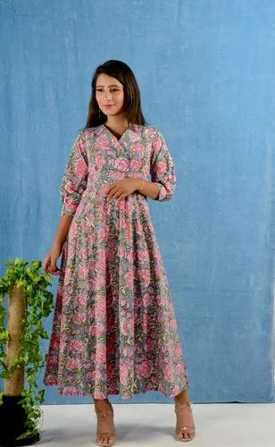COTTON HANDBLOCK PRINTED SHORT KURTI