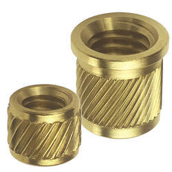 Helical Knurled Brass Inserts, Size: 10mm and M5