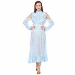 Iced Blue Frill Dress