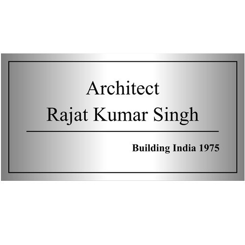 Stainless Steel Name Plate At Rs 16 /square Feet