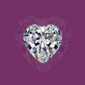 Heart Cut White Colorless Moissanite Stone