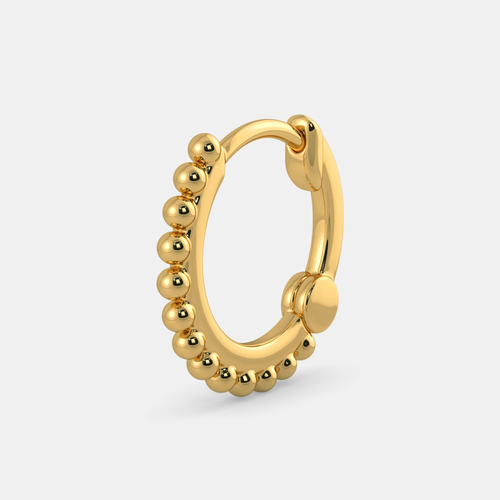Golden Plain Gold Nose Ring 500 Gm To 1 Gm Rs 3000 Gram Arts N