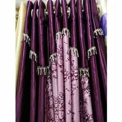 Satin Eyelet Designer Door Curtain, Size: 4x5 Feet
